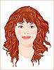 Vector clipart: ginger girl