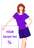 Vector clipart: promoter girl
