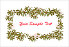 Vector clipart: green ivy frame
