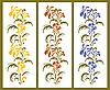 Vector clipart: floral borders