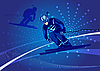 Vector clipart: ski-cross