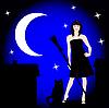 Vector clipart: magic night