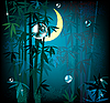 Векторный клипарт: тропический лес ночью