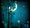 Vector clipart: night rainforest