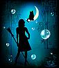 Векторный клипарт: волшебная ночь
