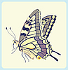 Vector clipart: Papilio glaucus butterfly