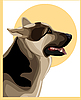 Vector clipart: shepherd dog