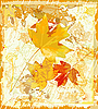 Vector clipart: autumnal leaves