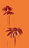 非洲菊剪影 | 向量插图