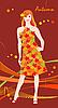 Vector clipart: autumnal girl design