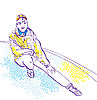 Vector clipart: Sportive girl in sportswear. Winter