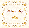 Vector clipart: wedding card
