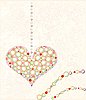 greeting card with diamond heart