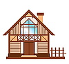 Vector clipart: wooden house