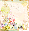 Векторный клипарт: цветочнкая открытка