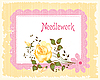Vector clipart: vintage lacy frame and rose