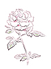 Vector clipart: vintage rose