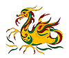 Vector clipart: funny Chinese dragon