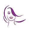 Vector clipart: stylized portrait of beautiful young woman
