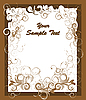 Vector clipart: brown card with swirls