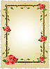 Vector clipart: vintage frame with roses