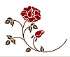 Vector clipart: red roses