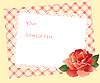 Vector clipart: card with rose