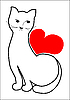 Vector clipart: cat and heart