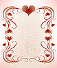 Vector clipart: frame for valentines day