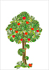 Vector clipart: stylized apple tree