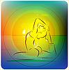 Векторный клипарт: практики йоги
