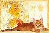 Vector clipart: ginger kitten waits for its owner