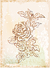 Vector clipart: hand drawn vintage sketch of rose
