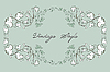 Vector clipart: Vintage floral pattern