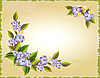 Vector clipart: card with the violet flowers