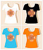 Vector clipart:  t-shirt designs