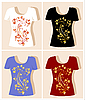 Vector clipart: t-shirt design with floral ornament