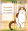 Vector clipart: card with ginger tabby cat