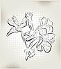 Vector clipart: geranium flowers