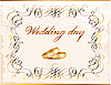 Vector clipart: Vintage wedding card
