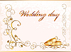 Vector clipart: Vintage wedding card with rings