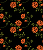 Vector clipart: Seamless flower texture in Russian folk style