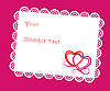 Vector clipart: Valentine's card with hearts