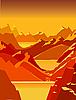 Vektor Cliparts: Sonnenuntergang
