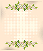 Vector clipart: flower over halftone backgrounds