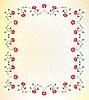 Vector clipart: flower frame