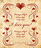 Vector clipart: vintage valentines day card