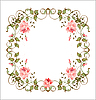 Vintage floral frame with roses | Stock Vector Graphics
