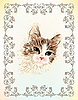 Vintage portrait of the cat | Stock Illustration
