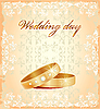 Vector clipart: wedding card